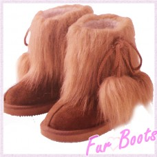 Fur boots ( Beige)