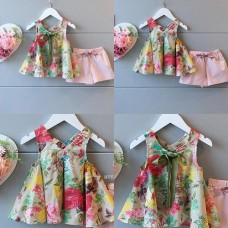 2016 New ★ floral two-point set ★ children's clothing ★