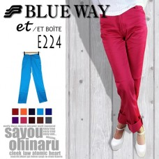 BLUE WAY Women's Color pants flashy color tight straight all 10 colors