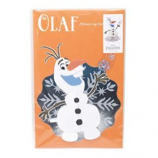 Anna and the snow Queen Honeycomb multipurpose message card / Olav