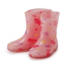 Rain boots / pink butterfly
